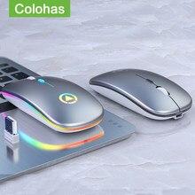 2.4G kablosuz oyun faresi RGB arkadan aydınlatmalı şarj edilebilir fare Gamer fareler dizüstü bilgisayar Macbook PC Gamer sessiz oyun fare