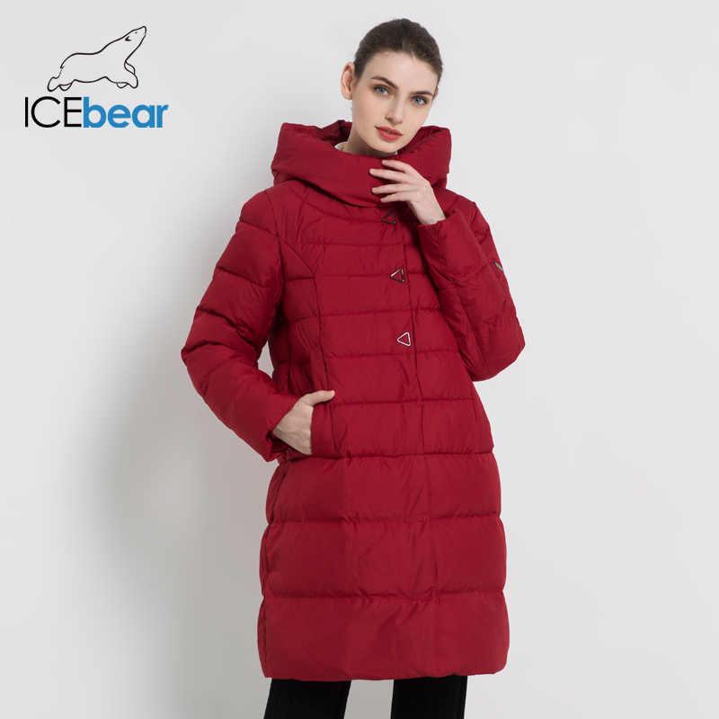 ICEbear 2019 nowy zimowy płaszcz damski moda kurtka damska wysokiej jakości kurtki okazjonalne parki z kapturem marki odzież GWD18077I