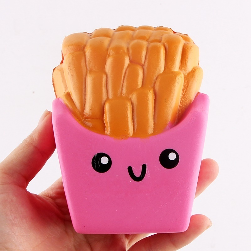 Kawaii French Fries Chips Squishy Food Squishies Cream Scented Slow Rising Stress Relief Toy Novelty Gag Toys For Children Kids