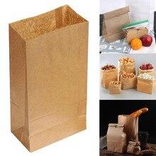 Sacos de papel de embalagem reciclável para doces, embalagens de doces para casamento, jóias recicláveis para compras de pão, sacos de festa para charmoso com 10 peças