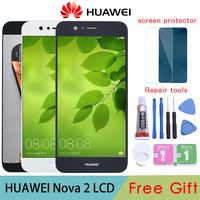 100% Tested OK For Huawei Nova 2 LCD Display Touch Screen Digitizer Assembly PIC AL00 PIC TL00 PIC LX9 Replacement