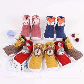 Kleinkind Baby Gestrickte Leopard Boden Socken Schuhe mit Gummi Sohlen Säuglings Anti-slip Indoor Socken Neugeborenen Frühling Sommer Herbst