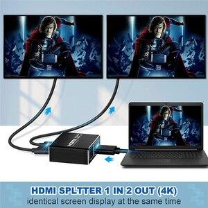 Image 4 - 2020 nuovo 4K 60Hz Splitter HDMI 2.0 HDMI 2.0 Splitter 1x2 Splitter HDMI 2.0 4K supporto HDCP 1.4 UHD Amplificatore Per PS4 Proiettore