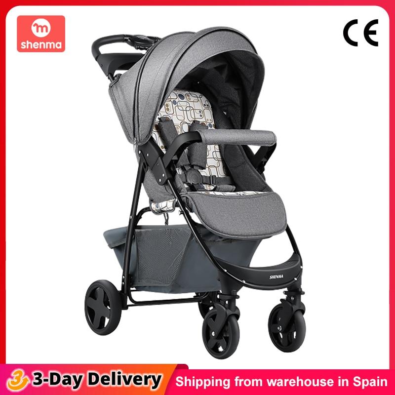 Shenma cochecito ligero de bebé de menos de 9kg, compacto, plegable, absorción de impacto de cuatro ruedas, envío desde España|Cochecito liviano de bebé| - AliExpress