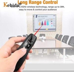 Image 4 - ハンドヘルド R400 2.4Ghz のワイヤレスプレゼンターポインターペン USB PPT 赤色レーザーリモコンプレゼンテーションのためのオフィス