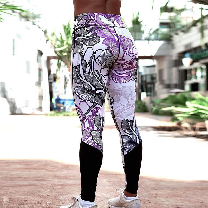 Women High Elastic Fitness Sport Leggings Pants Slim Running Sportswear Sports Pants Trousers Clothing
