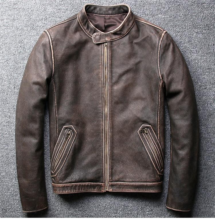 H49af0c51803d41ffb4ea3a7f41035c0eB Tcyeek Winter Autumn Genuine Leather Jacket Men Streetweaar Real Sheepskin Coat Man Moto Biker Vintage Cow Leather Jackets 805