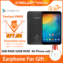 Teclast P80X 4G Tablet Android 9.0 Netbook Phablet Tabletten 8 Inch 1280X800 SC9863A Octa Core 2Gb ram 32Gb Rom Gps Dual Camera