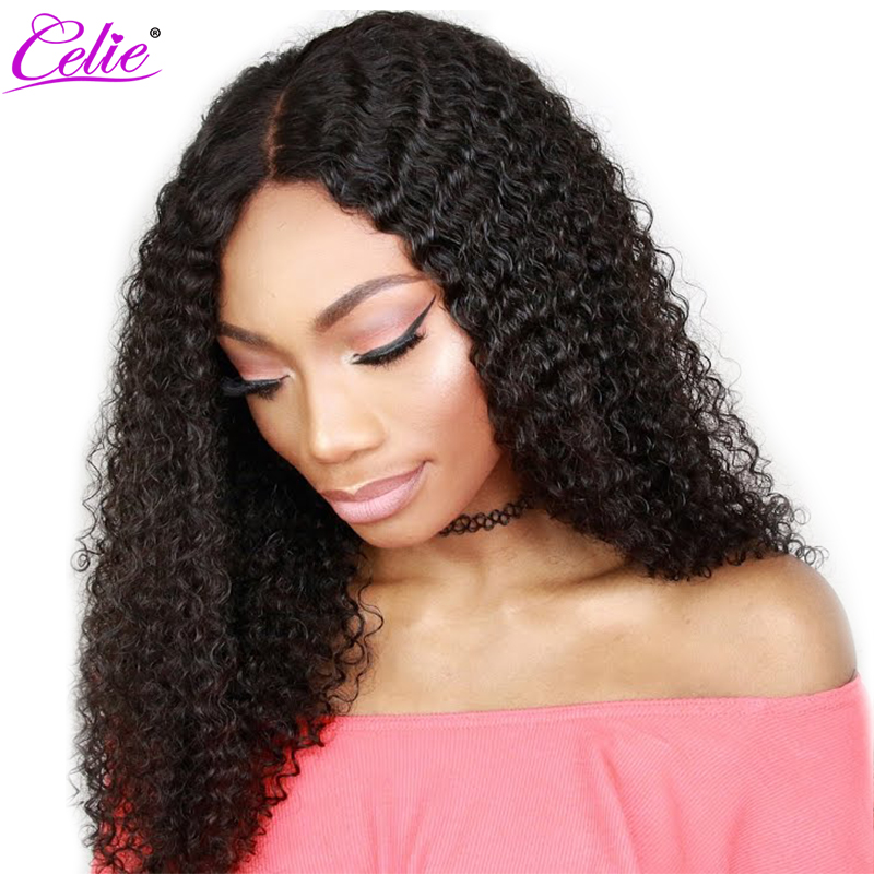 Celie Curly Full Lace Human Hair Wigs Pre Plucked With Baby Hair 200 Density Glueless Full