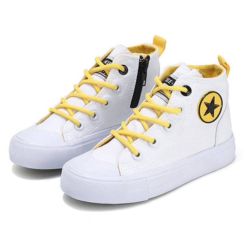 2020 New Spring Non-Slip Lace Up Children's Shoes Canvas Comfortable Casual Shoes Korean Kids Wear-Resistant Fashion Sneakers