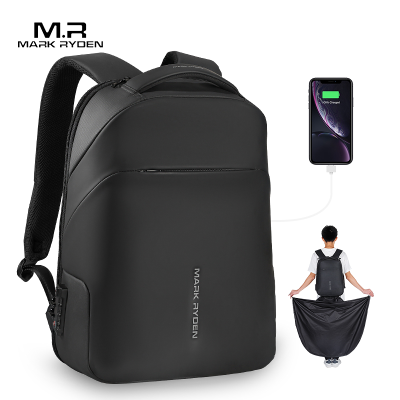 Mark Ryden NEW Anti-thief TSA Lock Men Backpack Waterproof Raincoat 15.6 Inch Laptop Bag School Fashion Man Travel Bag