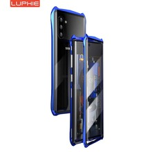 Luphie Magnetic Case For Samsung Galaxy Note 10 10Plus 360 Full Front+Back 9H Glass Tempered Film Magnet Metal Cover KS0318