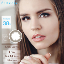 6lenses/pair FAIRY 1day Myopia Power Colored Contact Lenses
