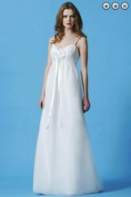 бесплатная доставка новая мода 2016 макси платье кружева сексуальная принцесса свадебные платья Vestidos formales белый длинная органза невесты Платья