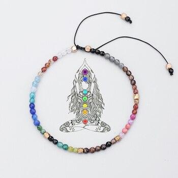 Bracelet Yaga perles Chakra 7 chakras de bouddha de gu rison lave ajustable de Yoga pour
