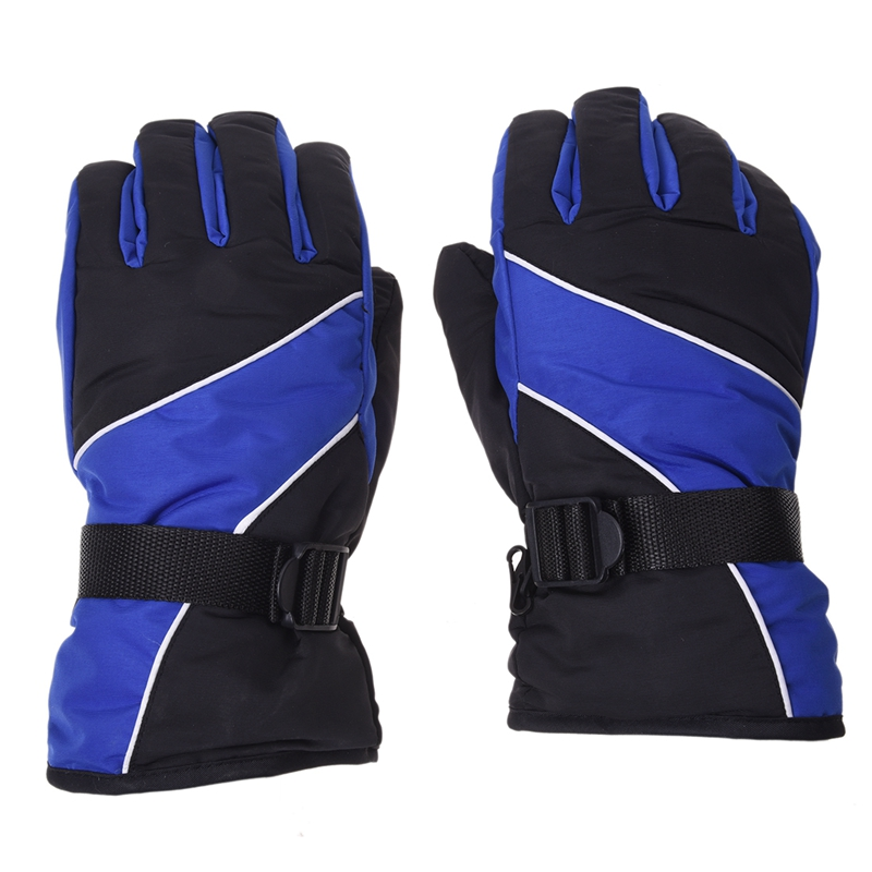 Men Ski Gloves Thermal Waterproof For Winter Outdoor Sports Snowboard (Blue)