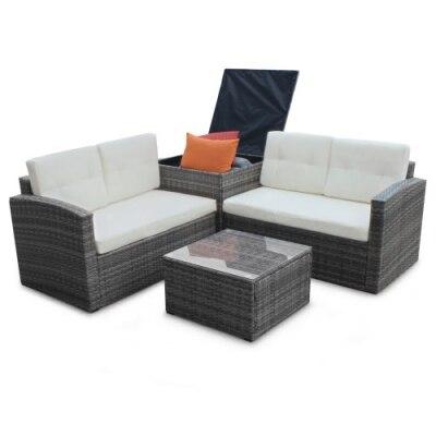 4-Piece Patio Sofa Set
