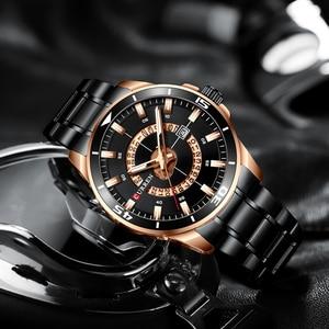Image 3 - CURREN New ビジネスデザインウォッチメンズラグジュアリーブランドクォーツ腕時計ステンレススチール時計ファッション紳士腕時計 Relojes