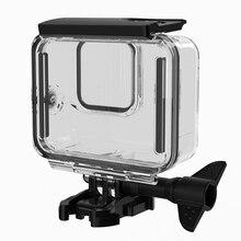 Ulanzi G8 1 futerał dla nurków wodoodporny 60M Dive Swim Case klatka dla Gopro czarny 8 oryginalny mikrofon Adapter do Gopro