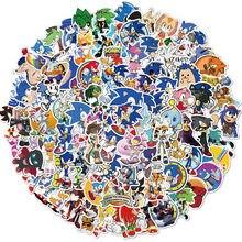 10/50/100 Uds Japón Anime Sonic artículos de papelería impermeables del monopatín maleta equipaje pegatinas para guitarra niño pegatina de juguete etiqueta engomada
