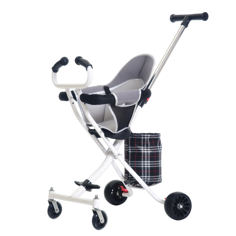LazyChild 1-3 Years Folding Portable Baby Cart Baby Carriage Stroller Artifact Children Safety Seat Shopping Gift Wholesale 2021