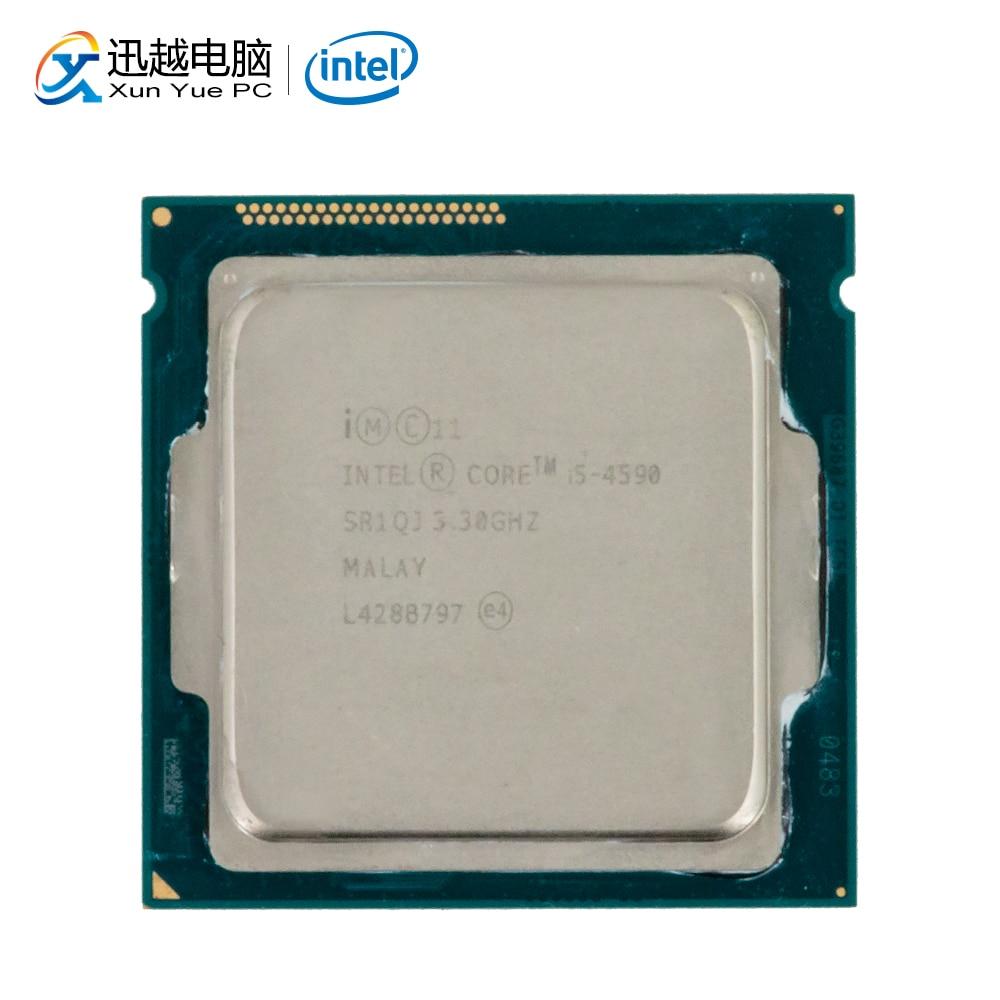 Processeur d'ordinateur de bureau Intel Core i5-4590 i5 4590 Quad-Core 3.3 GHz 6 mo L3 Cache LGA 1150 serveur utilisé CPU