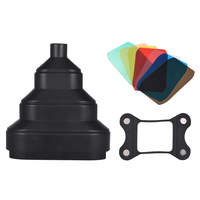 Rubber Scalable Conical Snoot with 5pcs Color Filter Kit Magnet Adsorption for Neewer Canon Photography On camera Speedlite