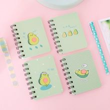 4pcs Cute Avocado Spiral Coil Notebook Blank Paper Journal Diary Planner Notepad School Office Supplies Stationery Gift C26