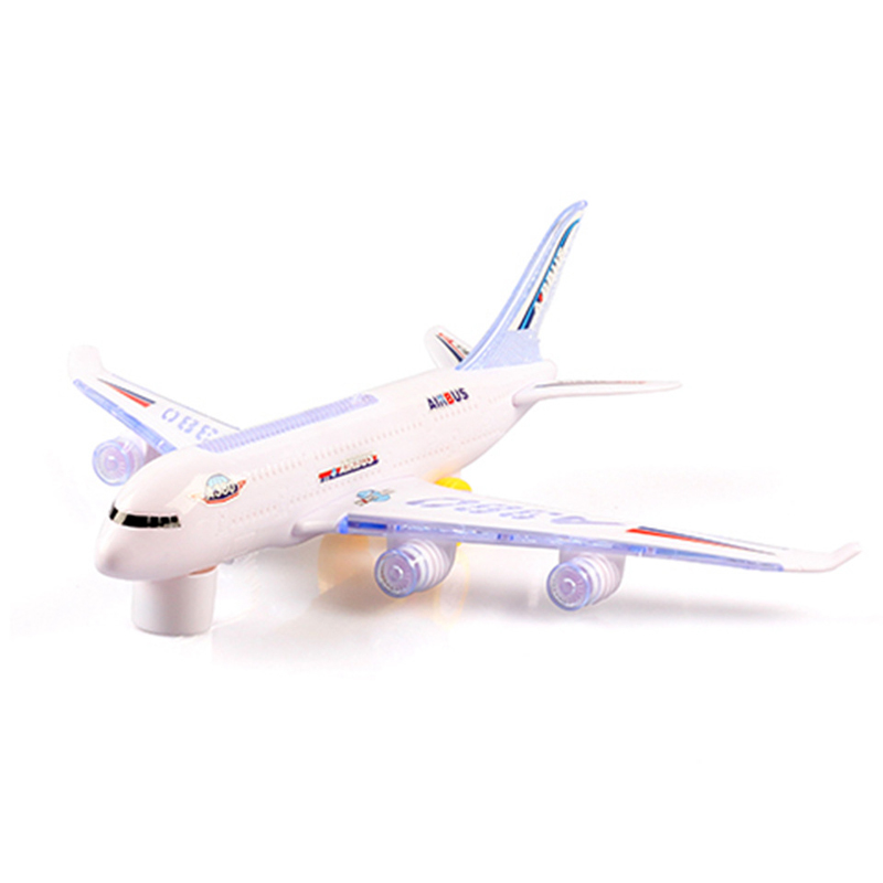 1pc Led Light-up Flashing Airplane Helicopter Toys For Children Birthday Kids Boys Outdoor Game