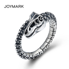 Personalized Dinosaur Skeleton Men's Open Ring Creative Thai Silver Ring Adjustable Popular S925 Sterling Silver Jewelry TSR116 цена 2017