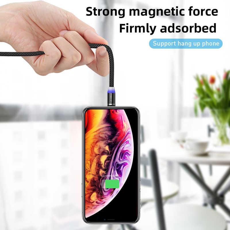 Lovebay 3M Magnetic Micro USB Kabel untuk Iphone Samsung Huawei Xiaomi Ponsel Tipe-C Kabel Magnet Charger Kawat kabel Pengisian Cepat