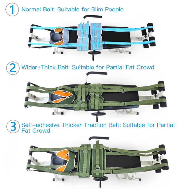 Canvas Adjustable Lumbar Traction Belt Bed Traction Bed Body Stretch Spine Ankle Vertebra Fatigue Minor Injurie Tensioner Brace