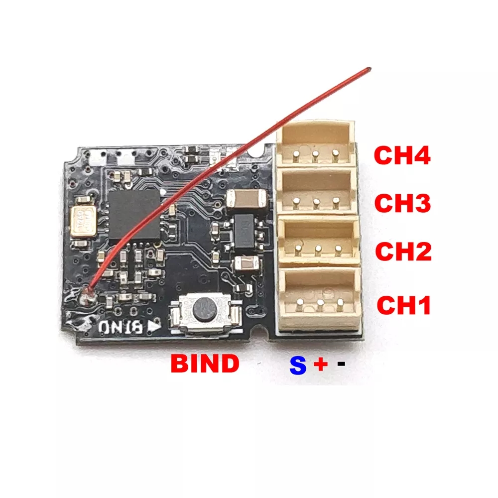 Micro 4 Channel Surface Receiver Board For Micro Racing Cars for  FUTABA S-FHSS Compatibe