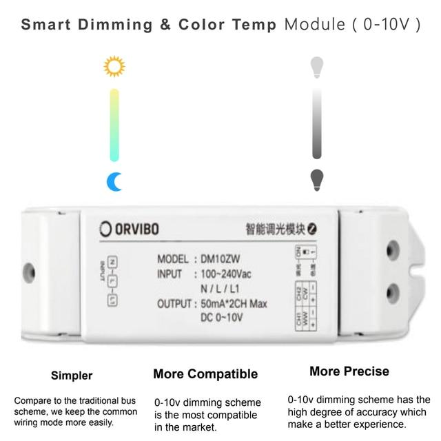 ORVIBO חכם עמעום בקר DM10ZW מיועד LED תאורה מערכות על ידי ORVIBO Zigbee רכזת
