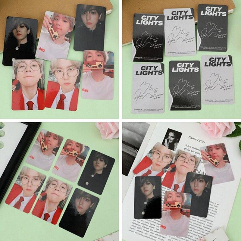 NEW KPOP EXO BAEKHYUN SOLO City Lights Album LOMO Cards K POP New Fashion Self Made