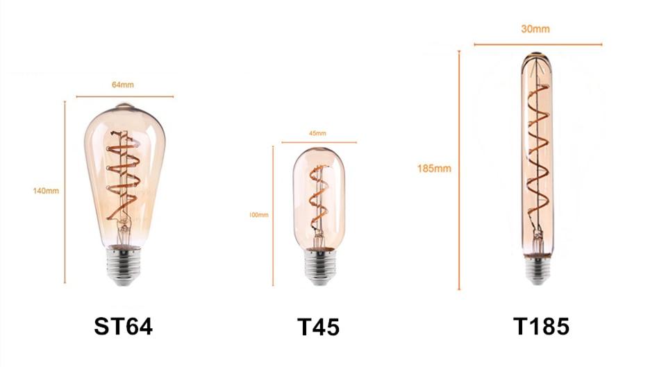 Bombilla LED retro estilo edison E27