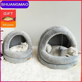 High Quality Cat House Beds Pet Cats Sofa Mats Cozy Indoor Kittens Bed Lovely Dog Small Kennel Home Cave Sleeping Nest Products