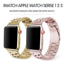 Stainless Steel Strap for Apple Watch Band 38mm 40mm 42mm 44mm Metal Links Bracelet Apple iWatch Series 1 2 3 4 hoco 2019 stainless steel strap for apple watch band 40mm 44mm metal links bracelet smart watch strap for i watch series 4 3 2 1