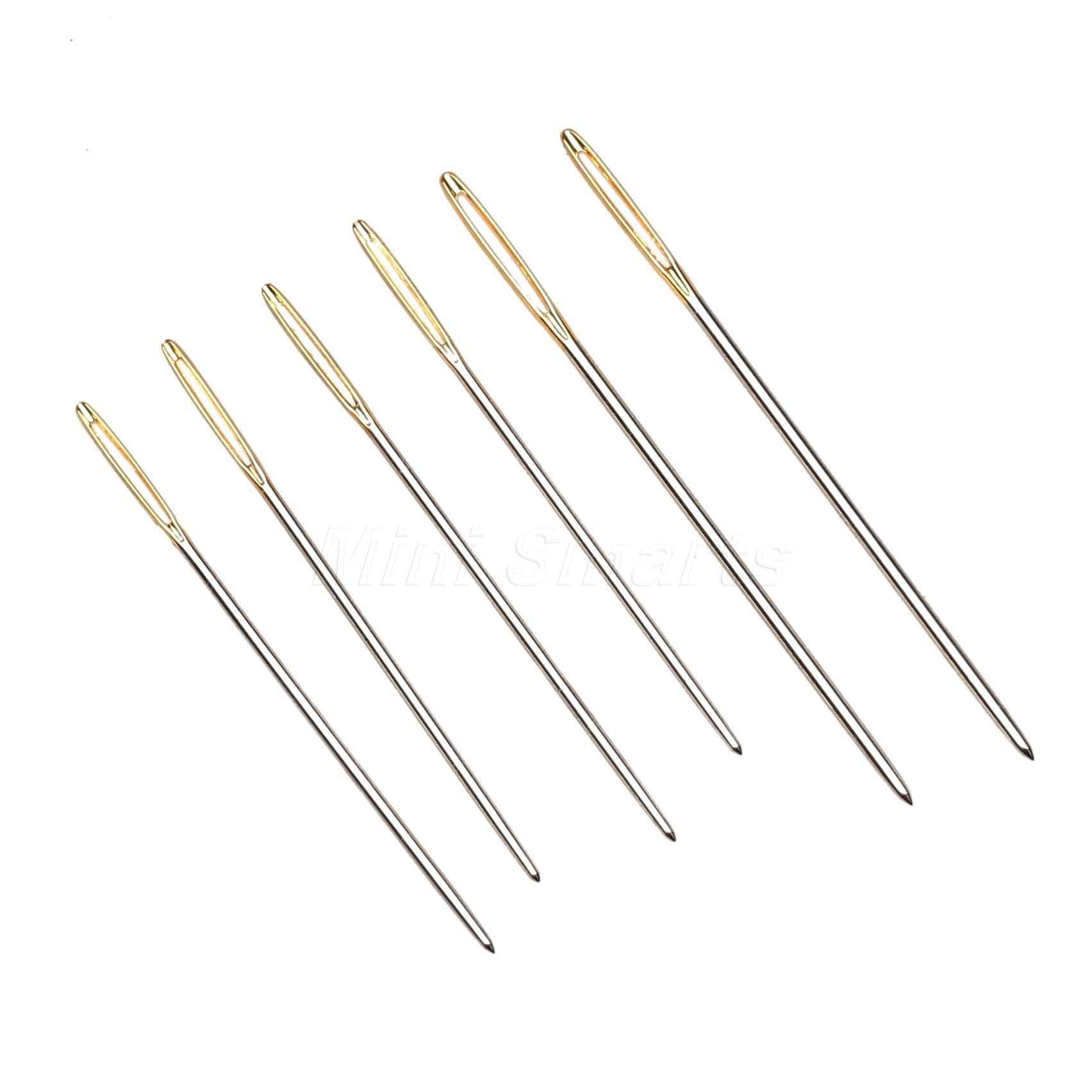 27 un carfting conjunto de aguja de coser formas variadas y tamaño de reparación tapicería