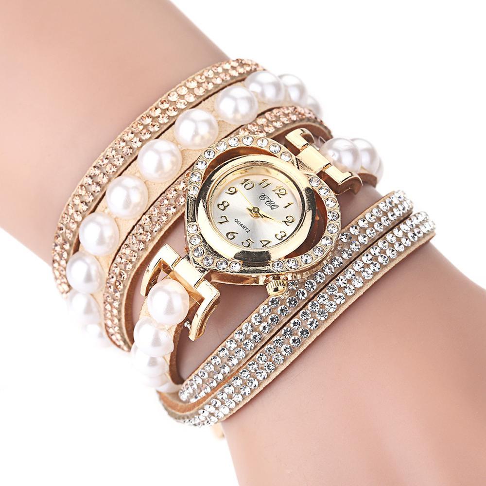 Ladies Watch Women Bracelet Watches With Rhinestones Clock Female Luxury Vintage Fashion Dress Wristwatch Relogio Feminino Mujer