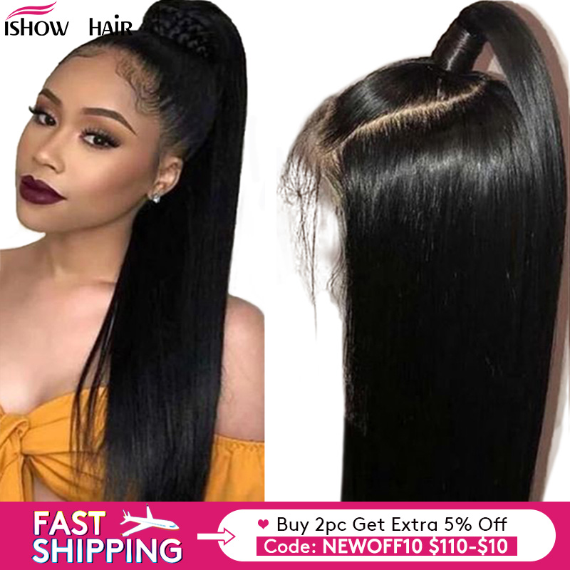 Lace Front Human Hair Wigs Straight Pre Plucked Hairline Baby Hair 150% Peruvian Remy Human Hair 13x4 Lace Front Wigs 8-26''