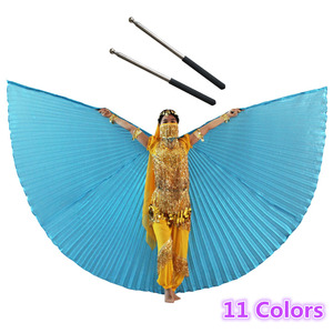 Image 1 - Buikdans Isis Vleugels Met Gratis Telescopische Stokken Volwassen Vrouwen Accessoire Bollywood Oosterse Egypte Egyptische Vleugels Indian Kostuum