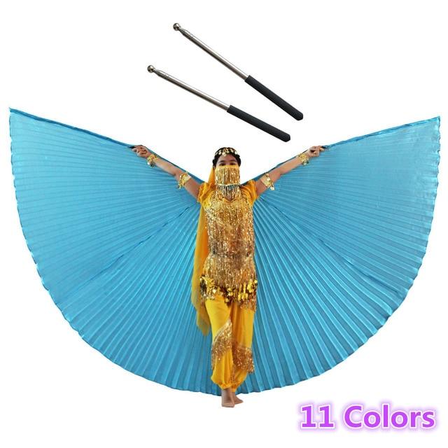 Buikdans Isis Vleugels Met Gratis Telescopische Stokken Volwassen Vrouwen Accessoire Bollywood Oosterse Egypte Egyptische Vleugels Indian Kostuum