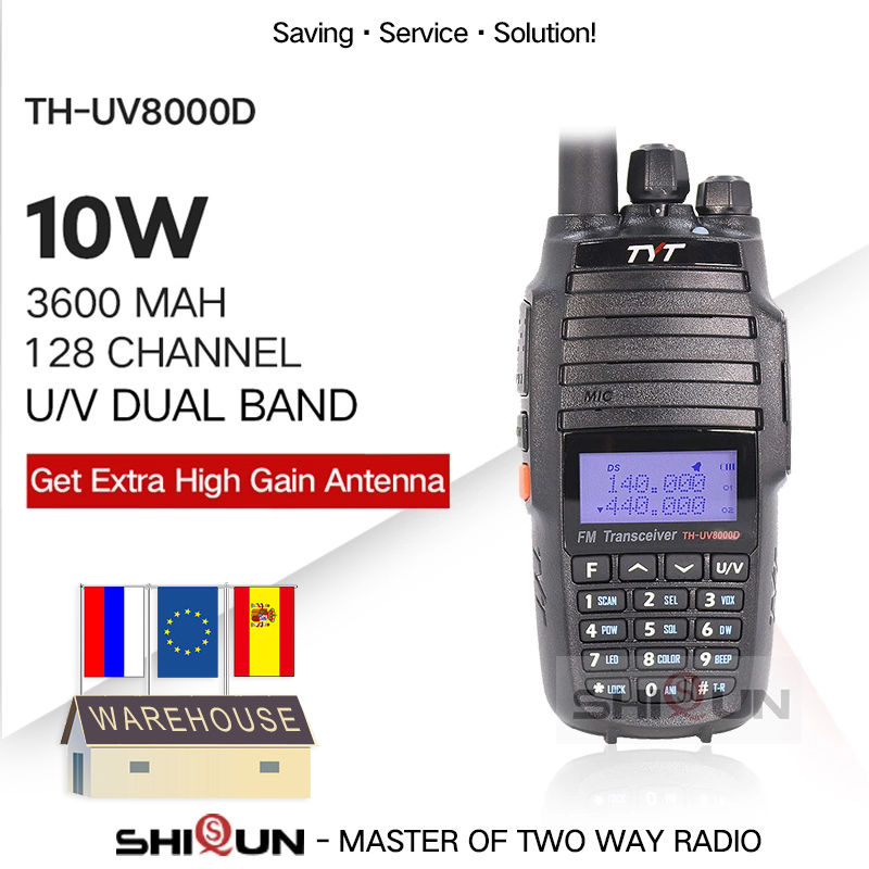 Retevis RT87 Radio Antenna Dual Band UHF400-480MHz VHF136-174MHz 128CH DTMF