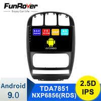 Funrover IPS Android 9,0 auto Radio Multimedia reproductor de Video GPS de navegación estéreo para Chrysler Grand Voyager para Dodge caravana FM