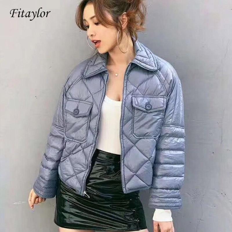 Fitaylor New Winter Duck   Down   Jacket Women Short Ultra Light Duck   Coat   Stand Collar Slim Short Warm   Coats   Clothes