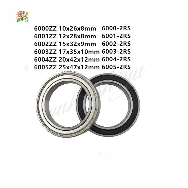 10 pcs 6004 2RS double rubber sealed ball bearing 20x 42x 12 mm