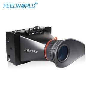 Image 2 - FEELWORLD S350 3,5 zoll EVF 3G SDI HDMI Elektronische Sucher 800x480 LCD Display Lupe Lupe für DSLR Kamera