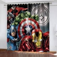 Disney avengers homem de ferro 3d cortinas blackout quarto sala estar cozinha computador quarto decoração para casa crianças presentes
