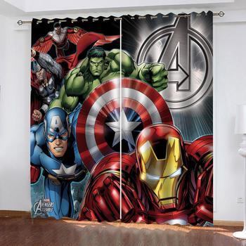 Disney Avengers Iron Man 3D Blackout zasłony sypialnia salon kuchnia sala komputerowa dekoracja wnętrz dla dzieci prezenty dla dzieci tanie i dobre opinie Wysoka Cieniowania (70 -90 ) Kurtyny Otwieranie po lewej i po prawej stronie CN (pochodzenie) Okno Wbudowana P1247 PRZĘDZA BARWIONA
